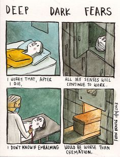 Our deepest darkest fears turned into terrifying cartoons