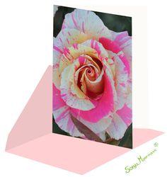 Meditative Rosenkarte, Geburtstagskarte, Dankeskarte, Genesungskarte ohne Text. Meditation, Abstract, Artwork, Thanks Card, Joie De Vivre, Birth, Summary, Work Of Art, Auguste Rodin Artwork