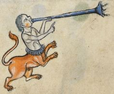 """Detail from """"The Rutland Psalter"""", medieval (c1260), British Library Add MS 62925. f 53v"""