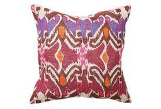 Ikat 18x18 Cotton Pillow, Multi on OneKingsLane.com