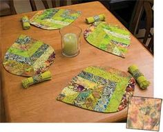 LEAVES-ON-A-ROLL PLACEMATS KIT