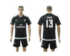 Real Madrid Away Goalkeeper 2015-16 black jerseys