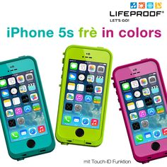Ab sofort auch in verschiedenen Farben erhältlich! LifeProof FRE Case für iPhone 5s mit Touch ID!  #LifeProof #iPhone5s #iPhone5 Iphone 5s, Samsung, Ab Sofort, Sport, Outdoor, Color, Slipcovers, Colors, Outdoors