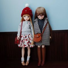 #육일돌 #모네헤드 퓨어니모 xs바디 알파맨솔로 코디하기 Doll Dresses, Vintage Girls, Cute Dolls, Ball Jointed Dolls, Doll Toys, Little Ones, Fairies, Doll Clothes, Outfit Ideas