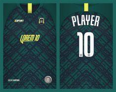 Soccer Jersey Template Sport T Shirt Design Sport Shirt Design, Sports Jersey Design, Tee Shirt Designs, Sport T Shirt, Soccer Outfits, Graffiti Characters, Football Kits, Apparel Design, Vector Freepik