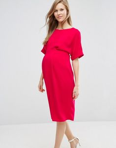 ASOS Maternity | ASOS Maternity Open Back Wiggle Dress