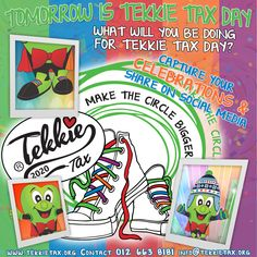 Tomorrow is TEKKIE TAX DAY! What will you be doing for Tekkie Tax day? Capture the moments and share your Tekkie Tax Celebrations on social media. Don't forget to tag us in your posts! It is not too late you can still get your Tekkie Tax merchandise. Just give us a call on 012 663 8181. Visit www.tekkietax.org for more info.  #tekkietax #makethecirclebigger #takehands #lovingtekkies #VirtualHug #1000000Hugs