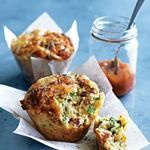 Ham and cheddar muffins