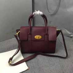 2016 A W Mulberry Small New Bayswater Oxblood Natural Grain Leather -    Mulberry Outlet UK Team 99d34cbaabf52