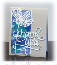 Die cuts on Yupo paper/alcohol ink background - Tutorial: Mass Producing Thank You Cards – Elizabeth Craft Designs Diy Cards, Your Cards, Quick Cards, Alcohol Ink Crafts, Alcohol Inks, Elizabeth Craft Designs, Cricut Cards, Flower Cards, Creative Cards