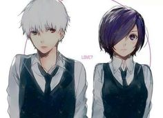 Yes, is love!! -w- (Kaneki X Touka from Tokyo Ghoul)
