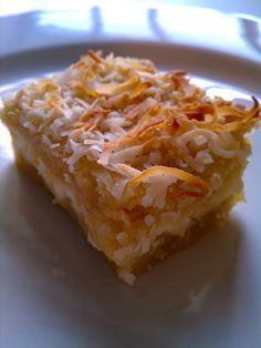 toasted coconut cream cheese bars via emma the joy