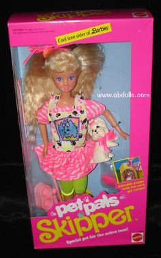 """my older sister always got the Barbies so I got the """"younger"""" Skippers"""