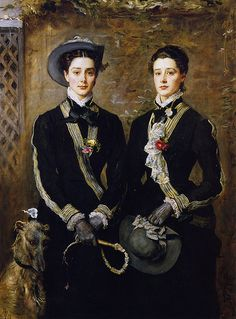Twins (Grace and Kate Hoare) by Sir John Everett Millais, 1876. Millais was an original member of The Artists Rifles.
