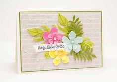 Stampin Up Botanical Blooms