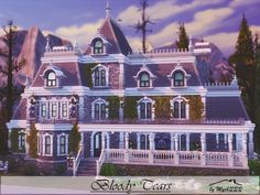 Bloody Tears house by MychQQQ for The Sims 4
