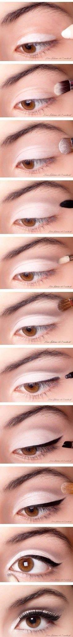 Zobacz zdjęcie rozświetlający make up oczu z kreską- krok po kroku w pełnej rozdzielczości
