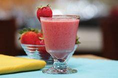 Strawberry-Banana Smoothie Recipe - Kraft Recipes #weightlossbeforeandafter
