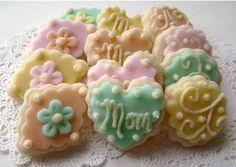 Mother's Day Sugar Cookies - Pastel - Mini Bites.