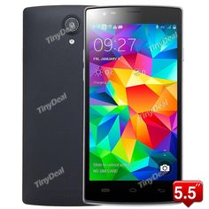 """L55 5.5\"""" IPS Android 4.4.2 Quad Core MTK6582 4G Android Phone 5MP CAM 1GB RAM 8GB ROM HotKnot P05-UL55"""