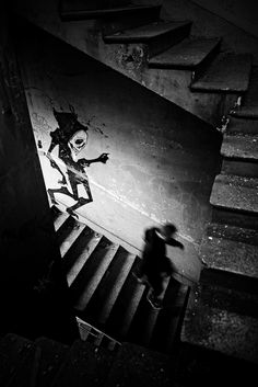 Benoît Rousseau - Run for your life  (Street photo B) (More Like A Nightmare, But We've All Had One Like This)