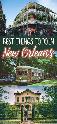 Best things to do in New Orleans for any first time visitor! Famous for its great music, delicious food, beautiful architecture, and friendly faces New Orleans is a must visit for anyone traveling or living in the United States. Vacation Destinations, Vacation Trips, Dream Vacations, Vacation Humor, Vacation Mood, Greece Vacation, Caribbean Vacations, Beach Vacations, Family Vacations
