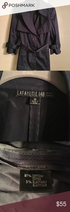 Lafayette 148 Navy Trench Short Navy Trench - Perfect for your Spring or Fall professional wardrobe! VGUC. Lafayette 148 New York Jackets & Coats Trench Coats