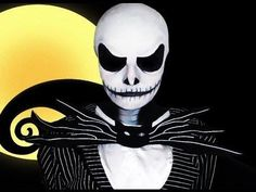 Jack Skellington - The Nightmare Before Christmas - Makeup Tutorial http://www.youtube.com/watch?v=dh-rP7Tp-uQ <--