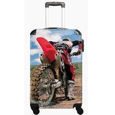 Moto Sport Suitcase - Ideal Childrens Cabin Luggage #familytravel #travellingwithchildren #kidsluggage #childrenssuitcases #sleepovers #schooltrips #motosport #mx