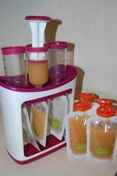 Infantino Squeeze Station: Make your own to-go baby food pouches  #babyfood  #homemade