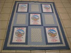 Blue Bird Flour sack quilt