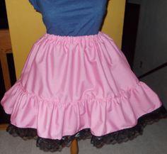 Lolita Dress Skirt Victorian Ruffle Skirt Prairie Skirt Petticoat Cosplay Pink Skirt Black Lace Gothic Dark Lolita Sweet Lolita Costume. $29.00, via Etsy.