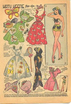 1984 Katy Keene paper doll butterfly different colors / eBay* 1500 free paper dolls The International Paper Doll Society Twitter #QuanYin5 Arielle Gabriel artist *