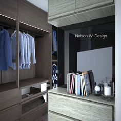Open Wardrobe, Wardrobe Closet, Bedroom Corner, Kitchen Views, Tiny Spaces, Cupboard Doors, Young Couples, Small Living Rooms, Brown Wood