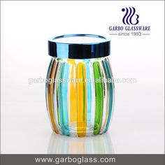 1300ml Colorful Stripes Spray Storage Jar Glass With Plastic Lid Photo, Detailed about 1300ml Colorful Stripes Spray Storage Jar Glass With Plastic Lid Picture on Alibaba.com.