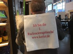 I am the first back pack shopping bag. Find me in hall 13, A75 at #EuroShop.