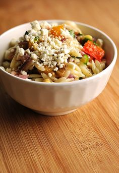 Roasted Vegetables and Orzo