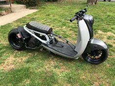 Moped Scooter, Trike Motorcycle, Vespa, Scooter Custom, Custom Bikes, Honda Metropolitan, Mini Chopper, Scooter Design, Motorised Bike