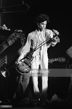 Prince performs on stage on the Sign 'O' The Times Tour Isstadion Stockholm Sweden 9th May 1987
