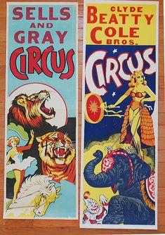 Vintage Circus Posters by freshvintagestyle, via Flickr