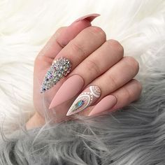 ✨✨✨ Nudie Baby ✨✨✨✨❤️❤️❤️ Yes Or No ❤️❤️❤️❤️ for @carmellabellaxo inspo by @jonnydieppham #fashionnailbartoowong #toowongvillage #lovethevillage #love #lovethem #nails #nailswag #nailsaddict #uglyducklingnails #oceannailsupply #stilettonails #swarovski #matte #nailsbysueuna #clawgasmic #nailsmagazine #hairbeautydirectory #maryhadalittleglam #vietnails