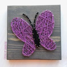 string art butterfly instructions