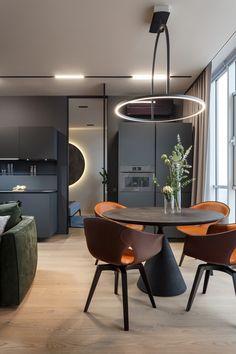 Modern interior design – Home Decor Interior Designs Flat Interior, Luxury Homes Interior, Luxury Home Decor, Apartment Interior, Home Interior, Modern Interior Design, Apartment Renovation, Studio Apartment, Apartment Design