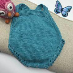 DIY ropa para bebe patrón de peto a dos agujas.
