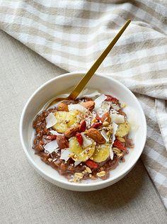 Porridge cacao-coco