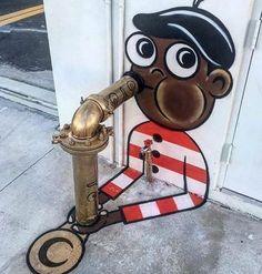 """21 """"Wow"""" examples of street art that takes our breath away .- 21 """"Wow"""" -Beispiele für Street Art, die uns nach Luft schnappen ließen 21 """"wow"""" examples of street art that made us gasp # let - 3d Street Art, Street Art Graffiti, Street Art News, Urban Street Art, Amazing Street Art, Street Artists, Urban Art, Amazing Art, Graffiti Artwork"""