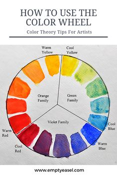Using the Color Wheel Color Theory Tips for Artists and Painters &; EmptyEasel Using the Color Wheel Color Theory Tips for Artists and Painters &; EmptyEasel Florentina Ecaterina tehnica peint Your guide […] painting Acrylic Painting Lessons, Painting Tips, Painting Art, Color Wheel Art, Color Wheel Lesson, Color Art, Color Mixing Chart, Oil Painters, Learn To Paint