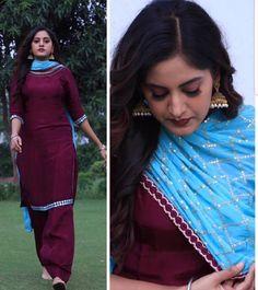 Patiala Suit Designs, Kurti Designs Party Wear, Salwar Suits Party Wear, Punjabi Salwar Suits, Designer Punjabi Suits, Indian Designer Wear, Punjabi Fashion, Indian Fashion, Colour Combination For Dress