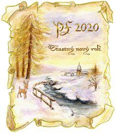 018 novoroční přání - nový rok Happy New, Painting, Hana, Christmas, Xmas, Painting Art, Paintings, Navidad, Noel