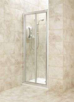 bi fold shower door only silver effect frameclear glass 800mm 0000003744994